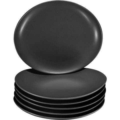 "Pro-Grade 11"" Curved Ceramic Restaurant Dinner Plate Set, Set of 6"
