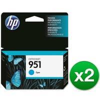 HP 951 Cyan Original Ink Cartridge (CN050AN)(2-Pack)