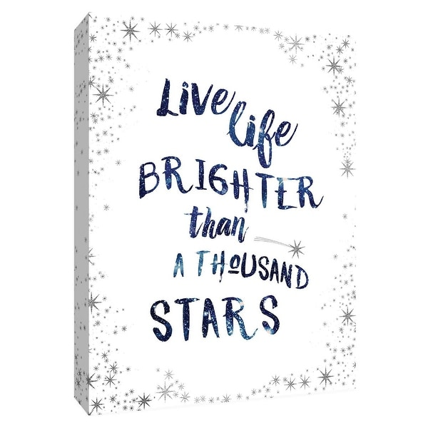 "PTM Images 9-148616 PTM Canvas Collection 10"" x 8"" - ""A Thousand Stars"" Giclee Sayings & Quotes Art Print on Canvas"