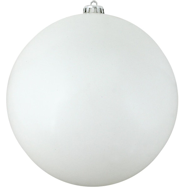 "Commercial Shiny White Shatterproof Christmas Ball Ornament 8"" (200mm)"