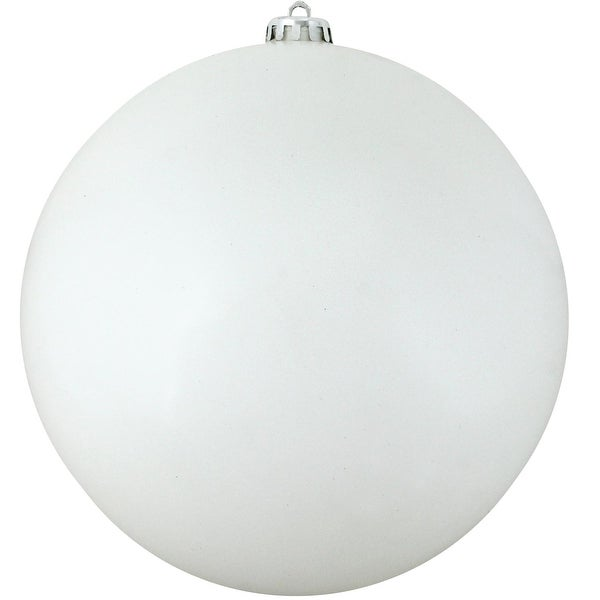 "Shatterproof Shiny Winter White Christmas Ball Ornament 10"" (250mm)"