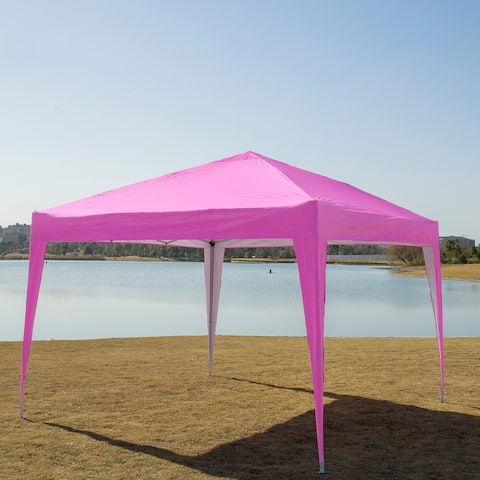 10-ft Steel Sunshade Party Folding Tent Canopy/ Gazebo w/ Carry Bag