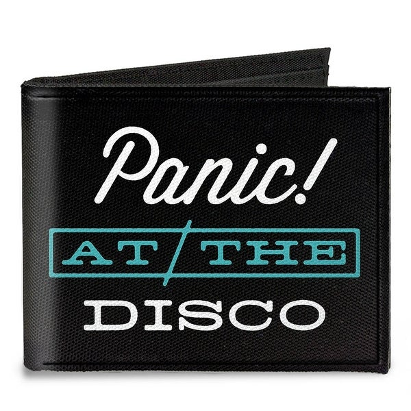 Panic @ The Disco White Teal Canvas Bi Fold Wallet One Size - One Size Fits most