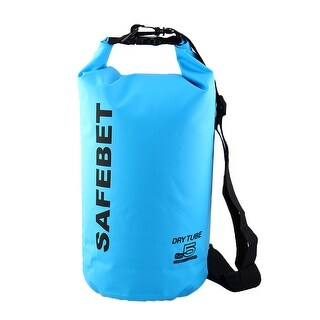 SAFEBET Authorized Rafting Swimming Water Resistant Bag Dry Sack Blue 5L