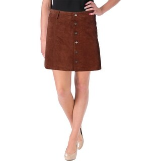 Sanctuary Womens Leather Above Knee A-Line Skirt