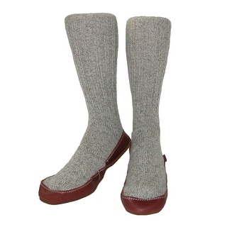 Acorn Men's Wool Sock Slippers - Grey