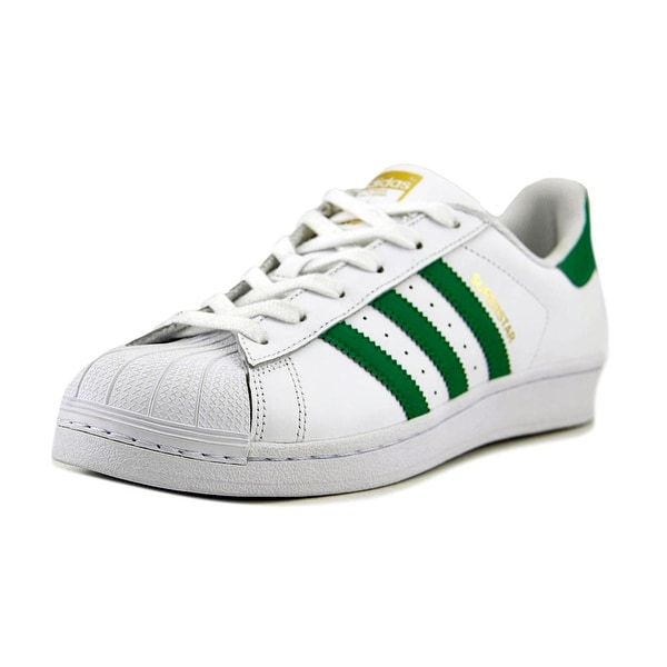 Adidas Superstar Women Round Toe Leather White Sneakers