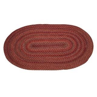 Oval Area Rug 6' x 4' Red Nylon Renovator's Supply