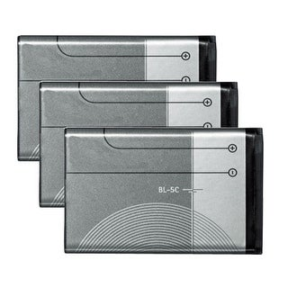 New Replacement Battery for Nokia BL-5C BL-5CA BR-5C BL-5CB Phone Models 3 Pack