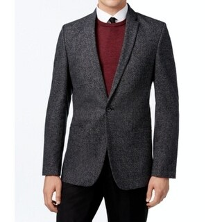 Calvin Klein NEW Gray Mens Size Medium M Classic-Fit One Button Blazer