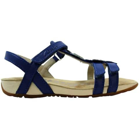 Clarks Rio Dance Blue Leather 26108240 Pre-School