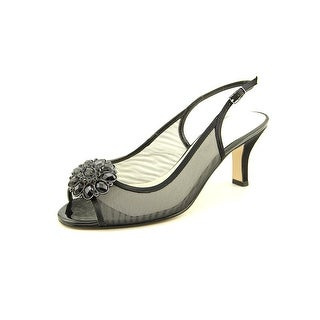 Caparros Savanna Open-Toe Canvas Slingback Heel