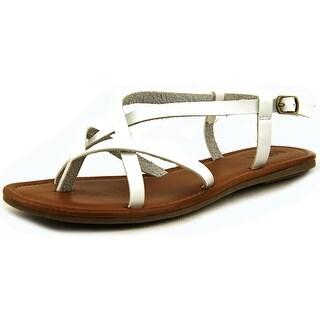 Mia Cruise Women Open-Toe Synthetic White Slingback Sandal