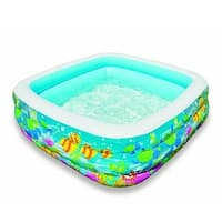 "Intex Swim Center Clearview Aquarium Inflatable Pool, 62.5"" X 62.5"" X 19.5"", For Ages 3+"