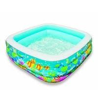 "Intex 57471Ep Age 3+ Swim Center Clearview Aquarium Inflatable Pool 62.5"" X 62.5"" X 19.5"""