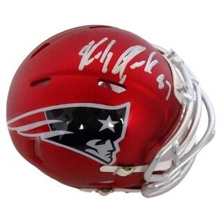 Rob Gronkowski Signed New England Patriots Blaze Speed Mini Helmet JSA