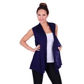Simply Ravishing Women's Basic Sleeveless Open Cardigan (Size: Small-5X) - Thumbnail 11