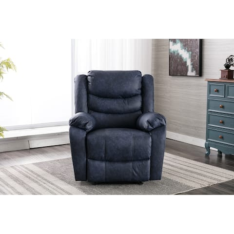 TiramisuBest Recliner Chair Breathable Leather Classic Single Sofa