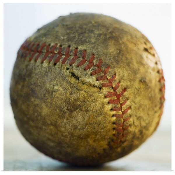 """Antique baseball"" Poster Print"