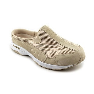 Easy Spirit Traveltime Women WW Round Toe Suede Tan Mules