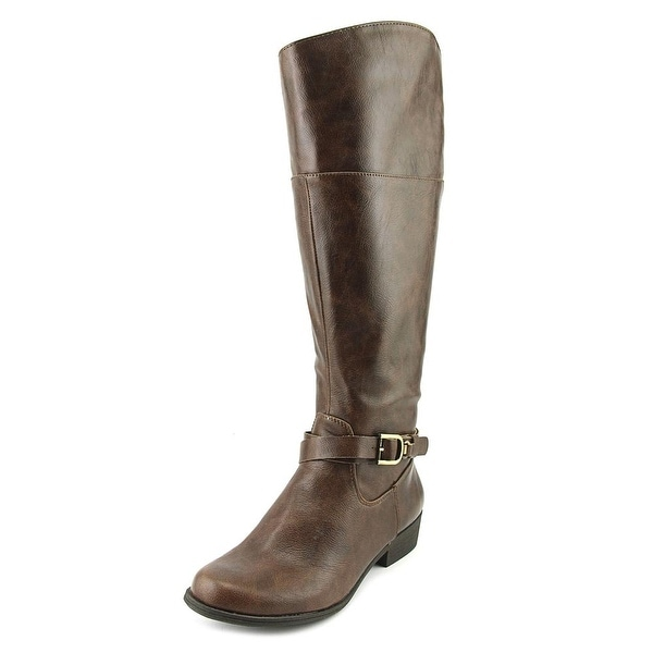 NaturalSoul by Naturalizer Variant Wide Calf Women Brown Knee High Boot