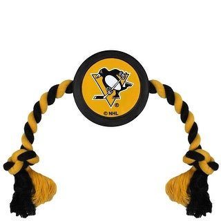 Pittsburgh Penguins Pet Hockey Puck Toy