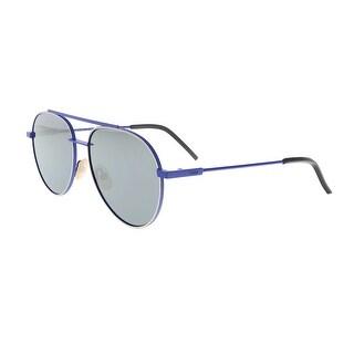 Fendi FF0222/S 0PJP Blue Aviator Sunglasses - 56-16-145