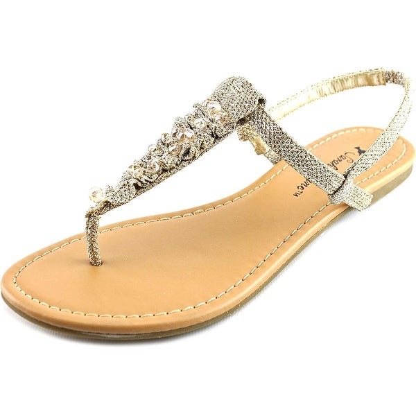 Sarah Jayne Doda Shimmer Open Toe Canvas Sandals