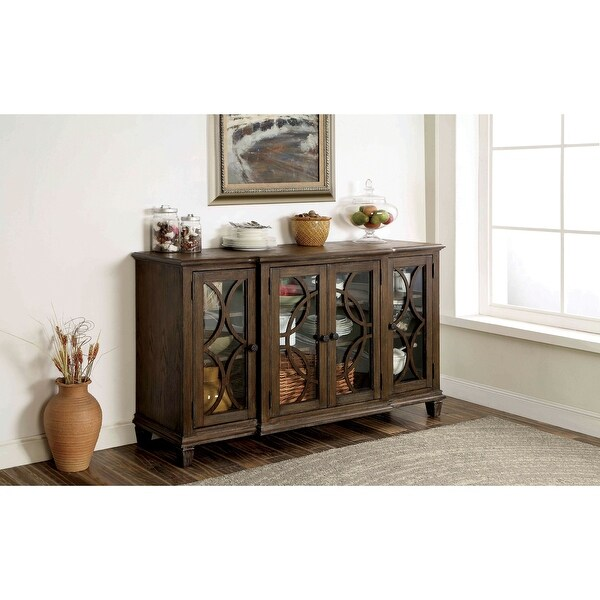 Furniture of America Haylette Rustic Brown 63-inch Solid Wood Server. Opens flyout.