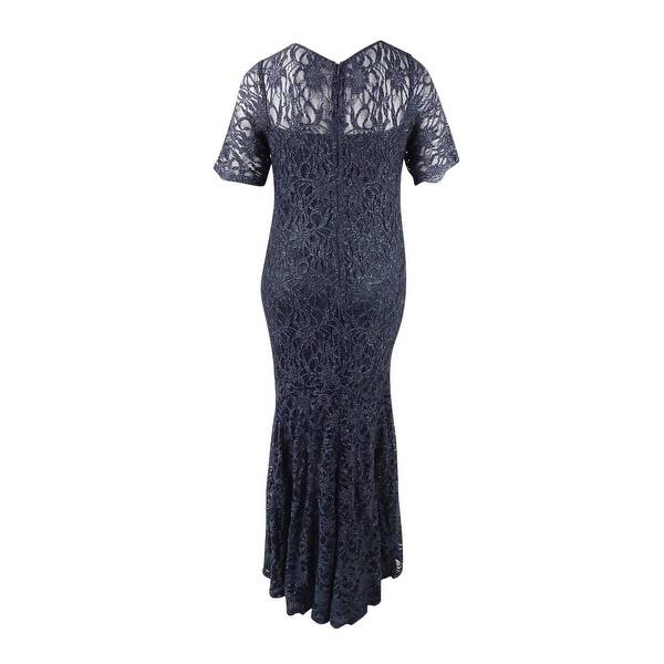 Shop Xscape Women\'s Plus Size Lace Shimmer Mermaid Gown - Free ...