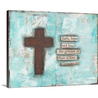 Cassandra Cushman Premium Thick-Wrap Canvas entitled Cross III - Multi-color