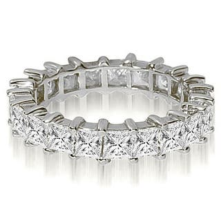 5.00 ct.tw 14K White Gold Princess Shared-Prong Diamond Eternity Ring (Option: 3.5)|https://ak1.ostkcdn.com/images/products/is/images/direct/6c5138da5f10d9deb0b94a25775a740bfba7b428/5.00-cttw.-14K-White-Gold-Princess-Shared-Prong-Diamond-Eternity-Ring.jpg?impolicy=medium