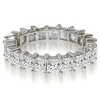 5.00 ct.tw 14K White Gold Princess Shared-Prong Diamond Eternity Ring