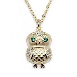 Julieta Jewelry Owl Charm Necklace