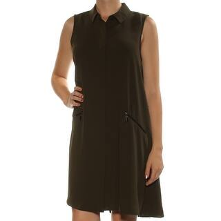 53481168df Quick View. Was  27.99.  2.80 OFF.  25.19. ALFANI Womens Green Sleeveless  Collared Above The Knee Shift Dress Size  8