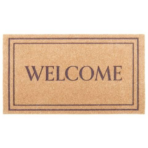 Ecocoir Synthetic Doormat, Brown
