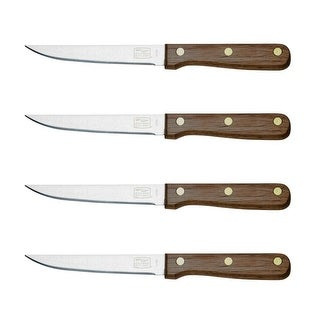 Chicago Cutlery B144 Walnut Tradition Steak Knife Set, 4-Piece