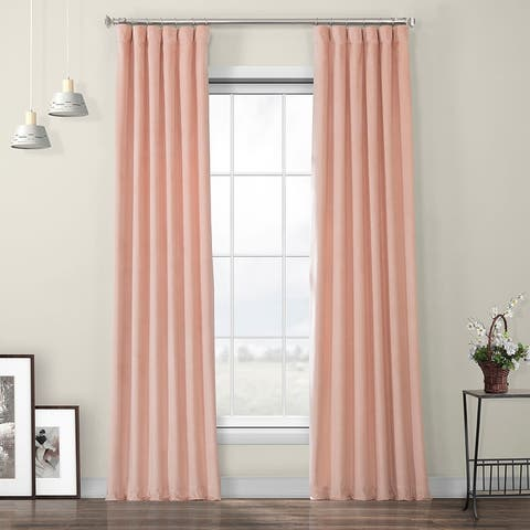 Porch & Den Riedweg Plush Velvet Curtain