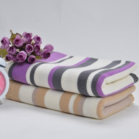 100% cotton 75x 95cm Blanket Knitted Newborn Swaddle Wrap for Infant toddler