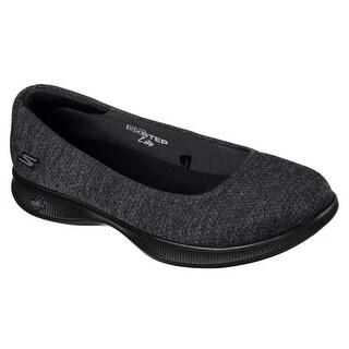 Skechers 14479 BKGY Women's GO STEP LITE-EVOKE Flat