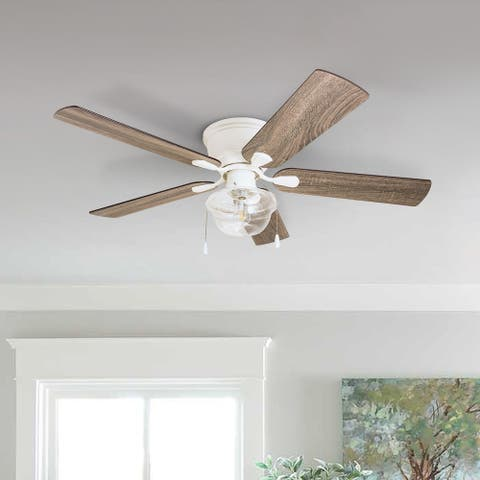 The Gray Barn East Cowes 52-inch Coastal Indoor LED Ceiling Fan with Pull Chains 5 Reversible Blades - 52