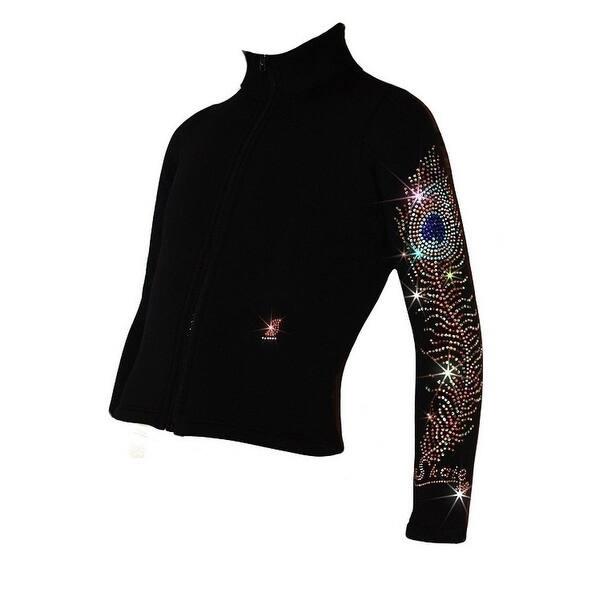 1c50984f3e34e Ice Fire Skate Black Charming Peacock Feather Jacket Girls 4-20