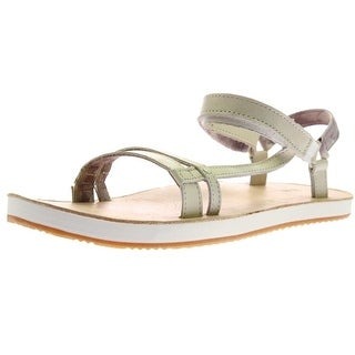 Teva Womens Slim Universal Leather Strappy Slingback Sandals