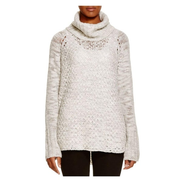 Sanctuary Womens Tunic Sweater Wool Blend Cowl