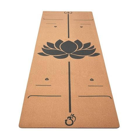 5mm cork natural rubber yoga mat