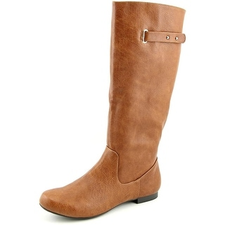Style & Co Mabbel Women Round Toe Synthetic Brown Knee High Boot