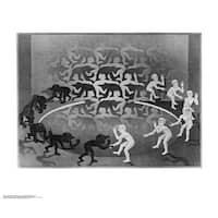 ''Encounter'' by M.C. Escher Fantasy Art Print (21.75 x 25.625 in.)
