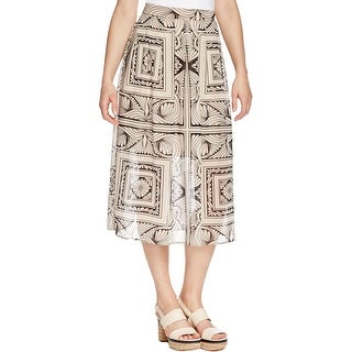 Finity Womens Maxi Skirt Printed Mid Calf