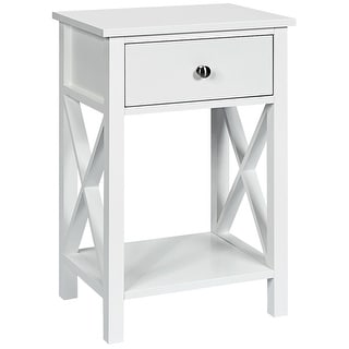 Link to Costway Nightstand Chair Side End Table with Drawer & Shelf Bedroom Similar Items in Bedroom Furniture