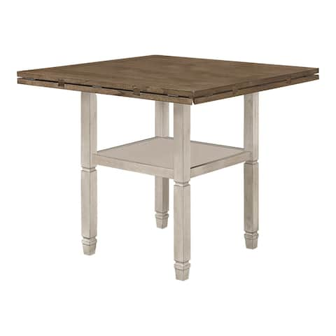 The Gray Barn Myrtle Field Nutmeg and Rustic Cream Round Counter Height Table